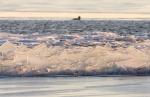 Foto van kruiend ijs, IJsselmeer, Gaasterland