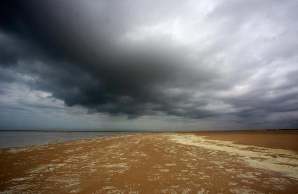 Foto van het strand, Calais, Frankrijk